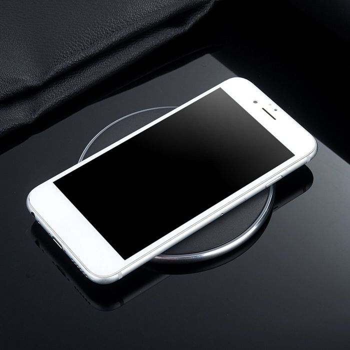 2.0A Desktop Aluminum Mirror Fast Wireless Charging Mobile Phone Wireless Charger QI Fast Charging for Samsung for Phone
