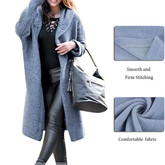 Spring Autumn Winter Women Solid Long Sweater Loose Knitting Cardigan Hooded Coat Office Lady Plus Size 5XL