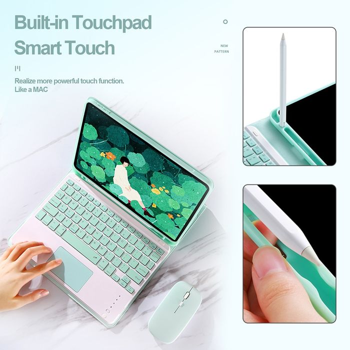 For iPad Case Keyboard With Touchpad Mouse iPad Pro 9.7 10.5 11 10.9 Air 2 3 4 2018 2019 2020 10.2 8th 7th 5 6 Generation Cover