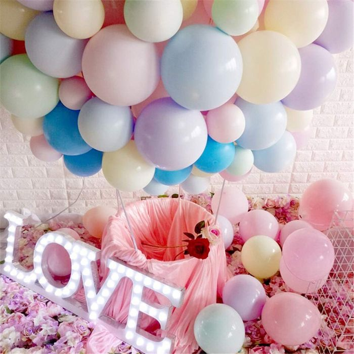 100pcs 5/10/12 inch Macaron Latex Ballon Birthday Party Candy Balloons Birthday Party Decorations Kids Baby Shower Wedding