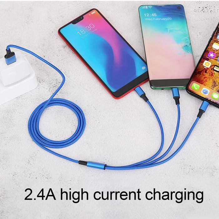 3 in 1 Data USB Cable Fast Charging Cables Lightning Type C Micro USB Plug Braid Charger Wire for iPhone Samsung Huawei for iOS