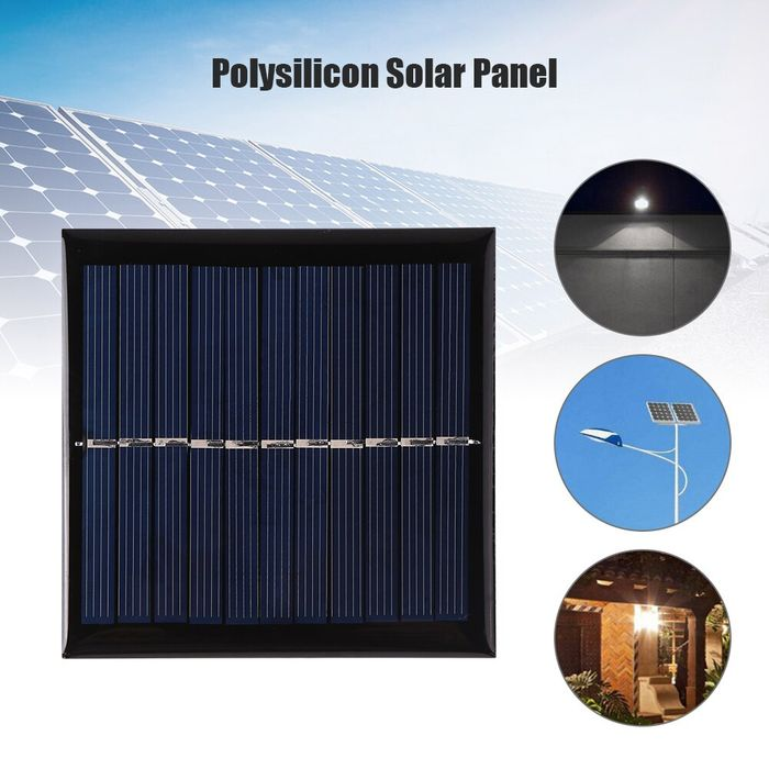 1W 5.5V USB Mini Solar Panel DIY Solar System for Phone Power Bank Fan Battery Cell Chargers 95 X 95mm