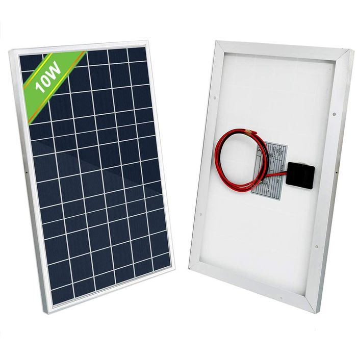 10W 25W Watt 12V Solar Panel Kit Trickle Charge Battery 10A PWM Charge Controller Battery Clips Extension Cable