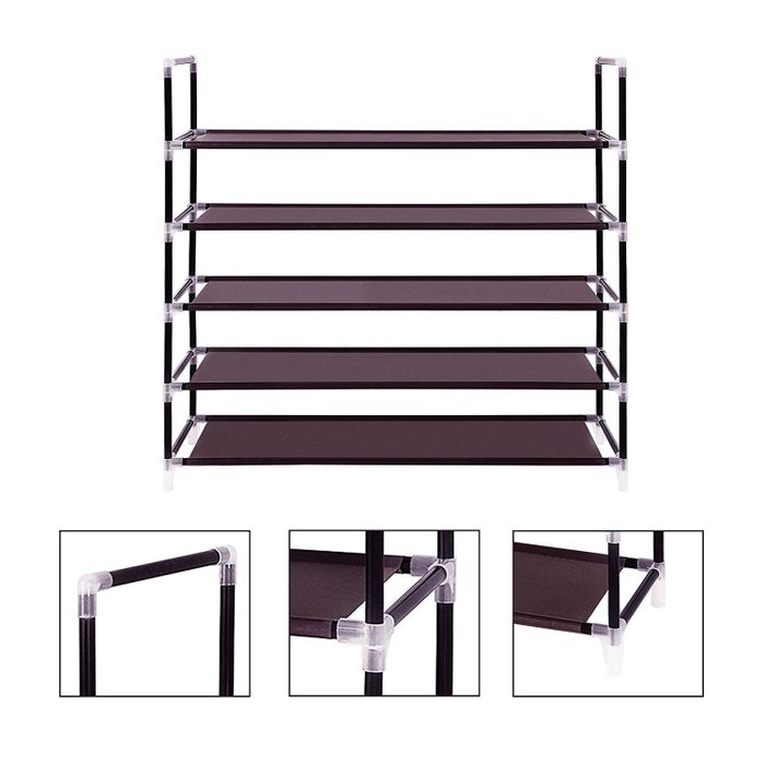 10 Tier 100CM Shoe Rack Simple Assembly  Non-woven Fabric Shoe Hanger With Handle